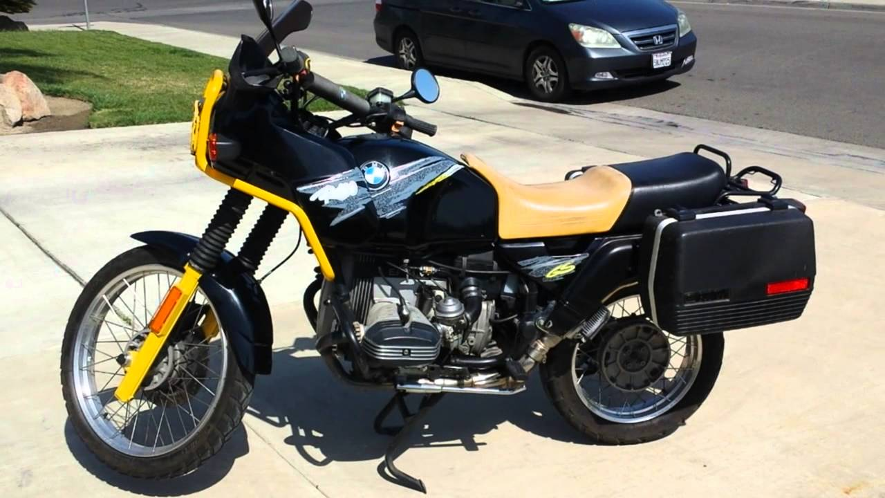 1993 Bmw R100gs Bumblebee Dualsport Youtube