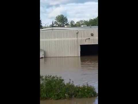 Calgary Flood - The Bow River at the Lafarge Concrete Plant, June 23, 2013