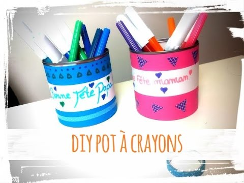f te p res et des m res activit manuelle pot crayons diy youtube. Black Bedroom Furniture Sets. Home Design Ideas