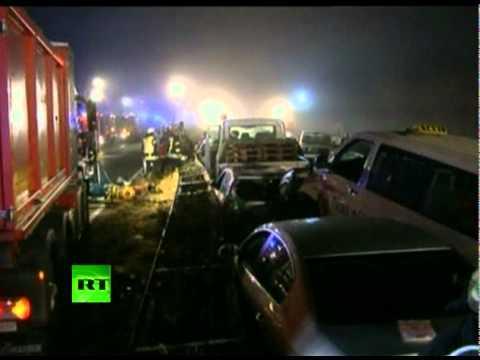 Mega Crash Video: 52-car pileup on German autobahn