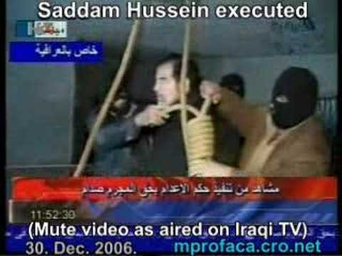 Saddam Hussein Executed Dec. 30, 2006