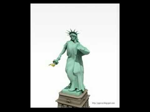 dancing statue of liberty youtube
