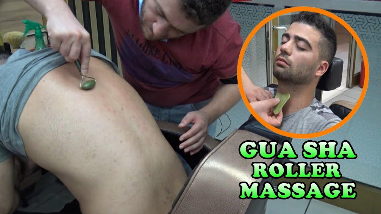 ASMR barber + NECK - BACK CRACK + gua sha head,face,eyebrow,back,throat,foot,arm,ear,sleep massage