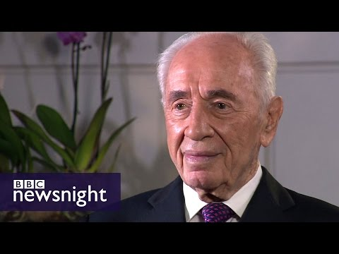 Shimon Peres: People who say peace is impossible are wrong (2015) - BBC Newsnight