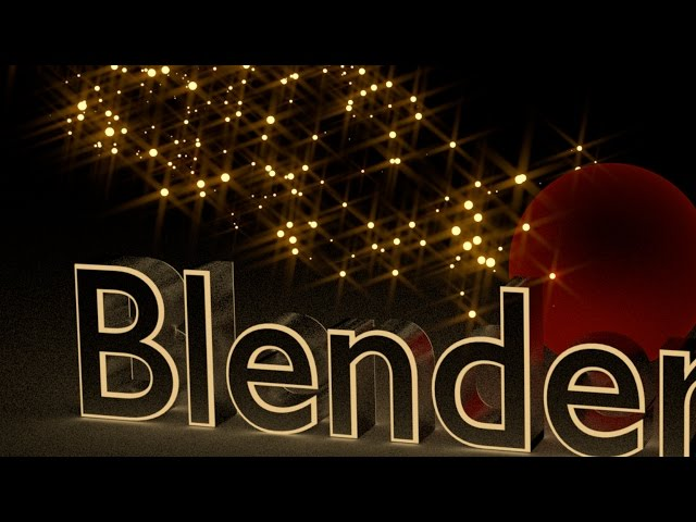 Blender Tutorial Text with Sparkling Background Animation