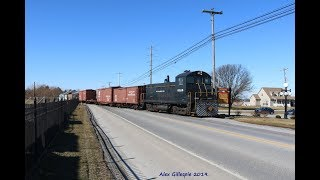 HD SRC SW8 8618 Moving Historic Cars near the Railroad Museum of PA! 2 9 19