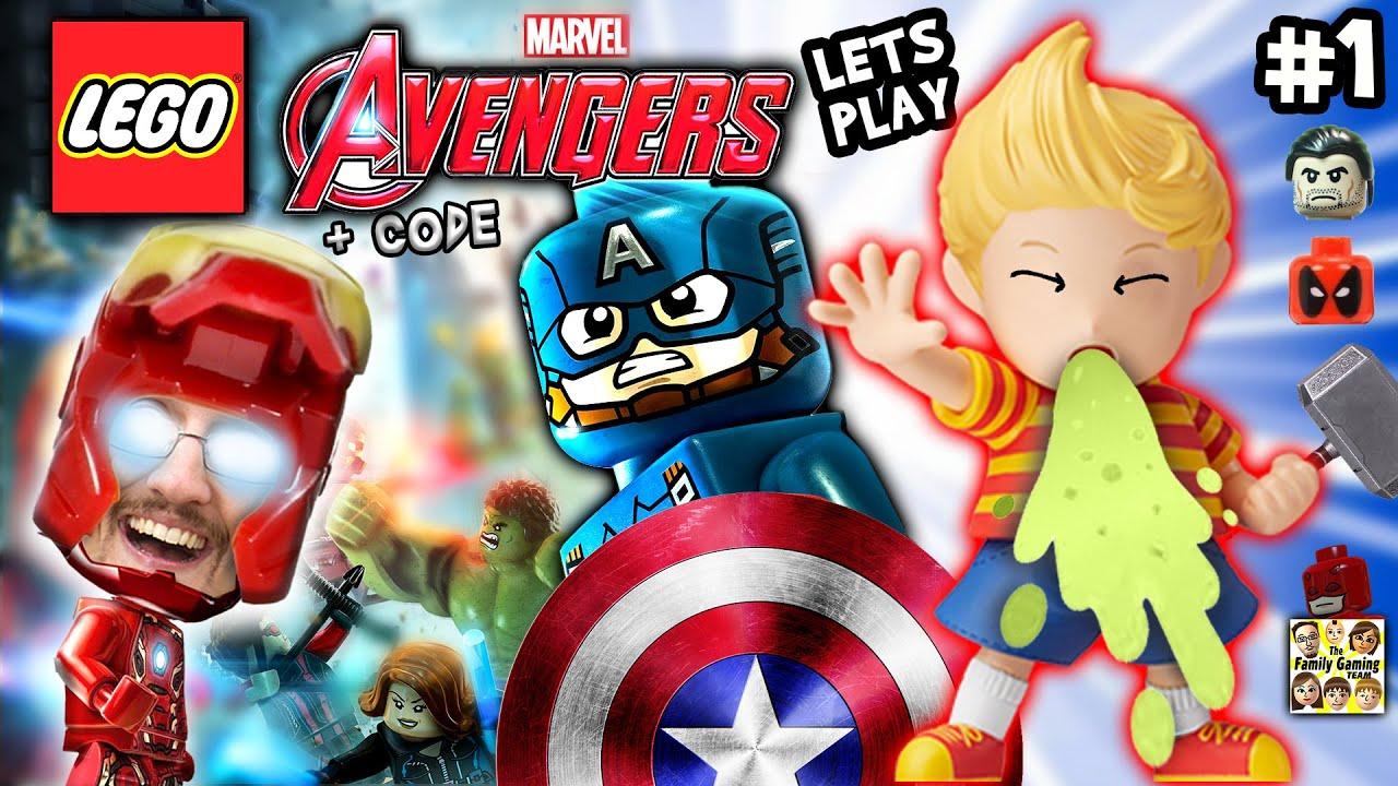 duddy plays lego marvel avengers 1 w amiibo lukas pukas cheat code fgteev 2016 gameplay haul youtube