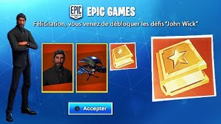 RE-RESURPENSE SERFREE RECOMPENSES - SKIN RETOUR -JOHN WICK ON FORTNITE!