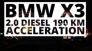 BMW X3 2.0 Diesel 190 KM (AT) - acceleration 0-100 km/h