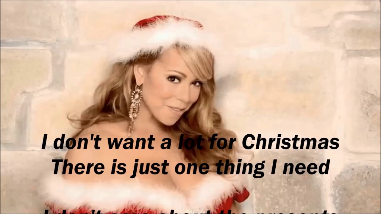 Mariah Carey All I Want For Christmas Is You Lyrics Youtube