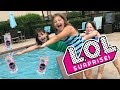 LOL SURPRISE INTERACTIVE LIVE PETS SCAVENGER HUNT AT THE POOL!