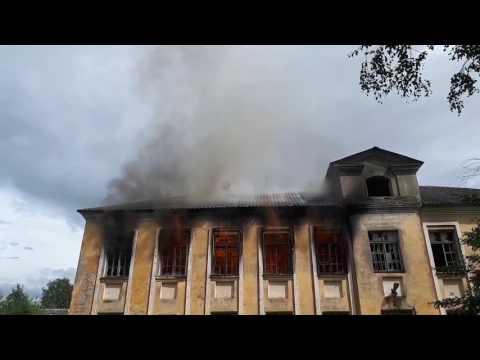 Сгорела школа в Никольском.