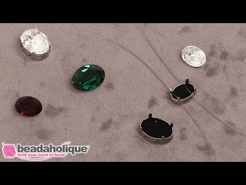 Quick Tip: How to Hide Wire Using Swarovski Crystal Fancy Stone Settings