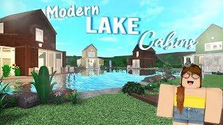 Modern Lake Cabins l Roblox Bloxburg 500k