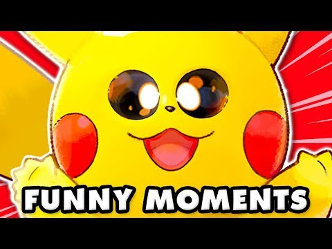 Pokemon Let's Go Pikachu and Eevee Funny Moments Montage!