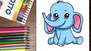 Dạy bé tập vẽ voi con