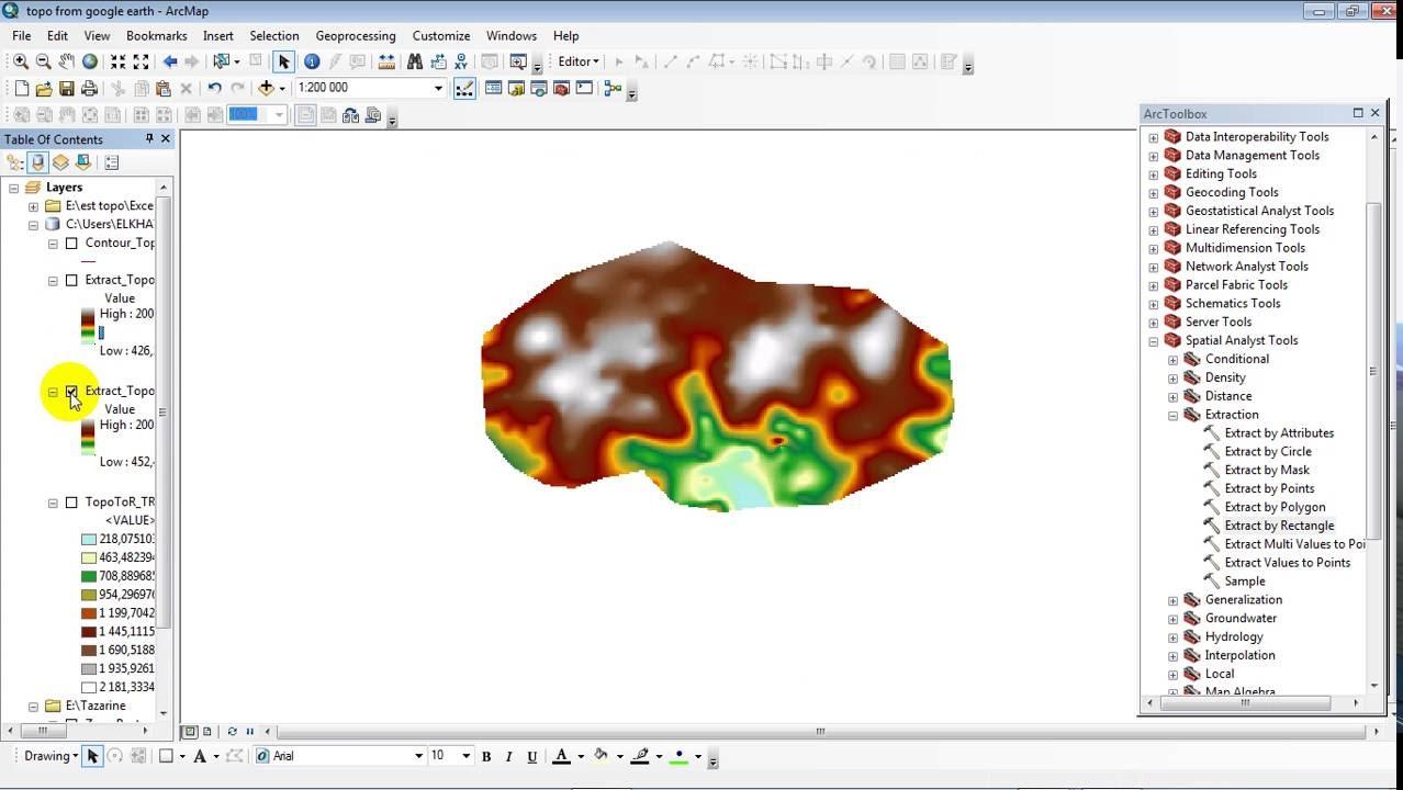 Cutting raster using ArcGIS for Desktop