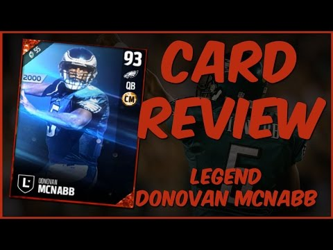MUT 17 Card Review | Legend Donovan McNabb Gameplay + Card Review