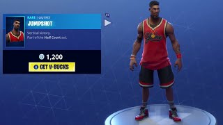 Fortnite NEW Jumpshot and Triple Threat skin, Hang Time Glider and Slam Dunk pic!!