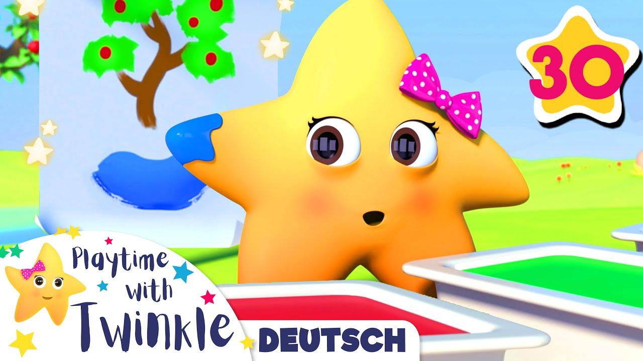 Twinkle malt mit Farben | Kinderlieder | Little Baby Bum Deutsch | Cartoons für Kinder