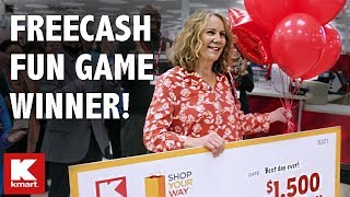 Kmart FREECASH Fun Game Winner Shopping Spree