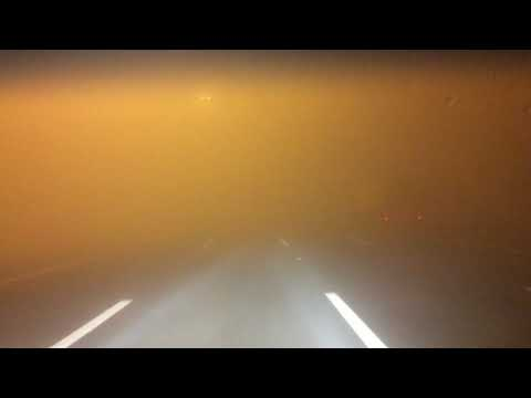 DRIVING IN DENSE FOG IN UAE E311 DUBAI TO ABU DHABI ON CHRISTMAS NIGHT 2017