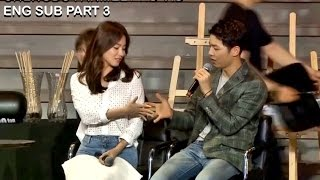 [ENG SUB] Song Joong Ki & Song Hye Kyo Fan Meeting in Chengdu Part 3 HD thumbnail