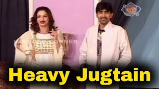 Sajan Abbas Best Jugtain to Audience   Nida Chaudhry - Comedy Stage Drama Clip