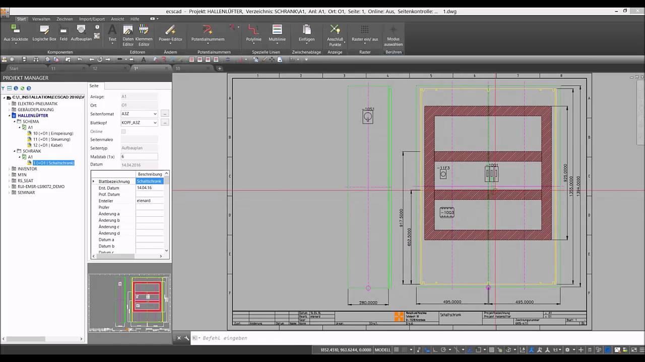 schaltschrankplanung mit der elektro cad software ecscad youtube. Black Bedroom Furniture Sets. Home Design Ideas