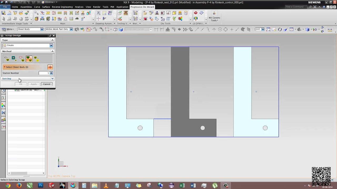 Siemens nx sheet metal progressive die designing part 1 youtube baditri Image collections