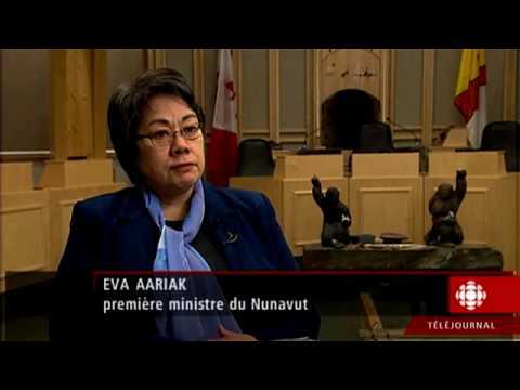 Téléjournal - Visite au Nunavut