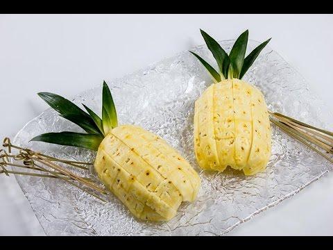 Come Servire L Ananas A Tavola.Come Servire Un Ananas In Stile Visualfood Tutorial Di Visualfood