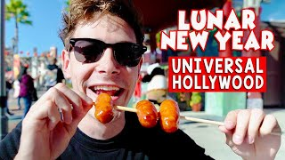Eating ALL the Lunar New Year Food at Universal Studios Hollywood!