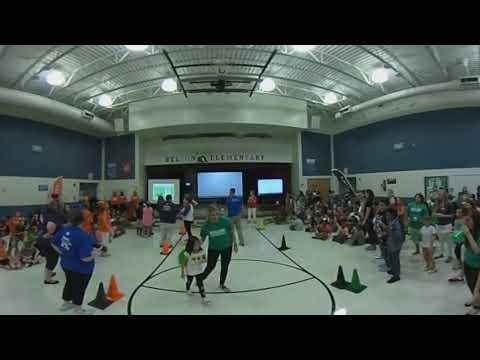 Sorting ceremony at Belton Elementary School