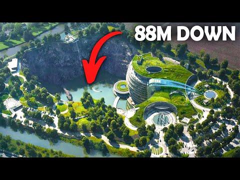 The QUARRY HOTEL 88 meters deep - Intercontinental shanghai wonderland