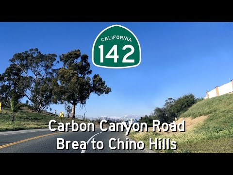 CA-142 North - Carbon Canyon Road - Brea to Chino Hills