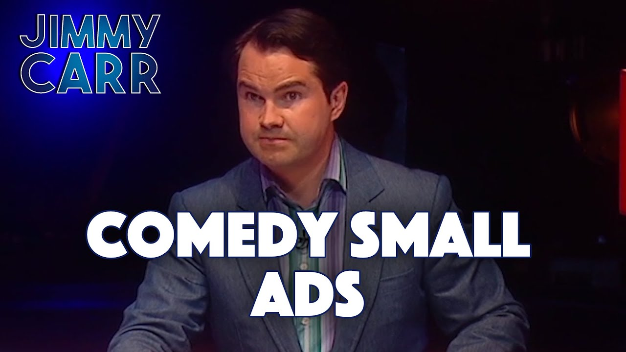 Comedy Small Ads | Jimmy Carr Live
