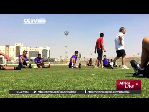 Banned from playing at home Libya train for DRC test in Cairo