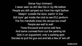 D12 - One Shot 2 Shot (with lyrics)