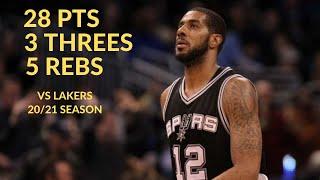 Lamarcus Aldridge 28 Pts 3 Threes 5 Rebs 3 Asts Highlights Vs LA Lakers | NBA 20/21 Season