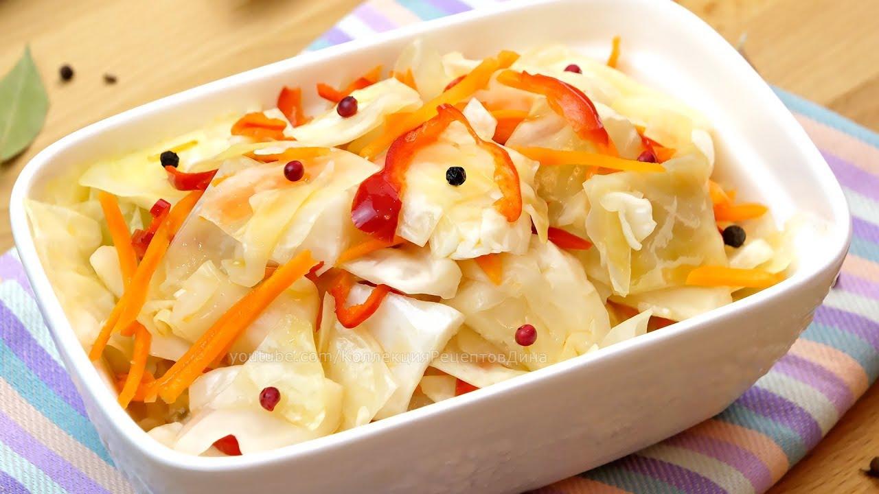 Очень вкусный салат КАПУСТНЫЙ! Хрустящая закусочная капуста в пикантном маринаде!