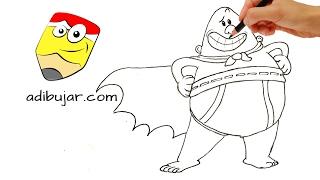 Cómo dibujar al Capitán Calzoncillos | How to draw captain underpants