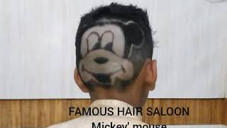 Hair tattoo Mickey mouse