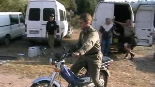 Съёмки сериала 1942  ч4  Владимир Башкиров на мопеде