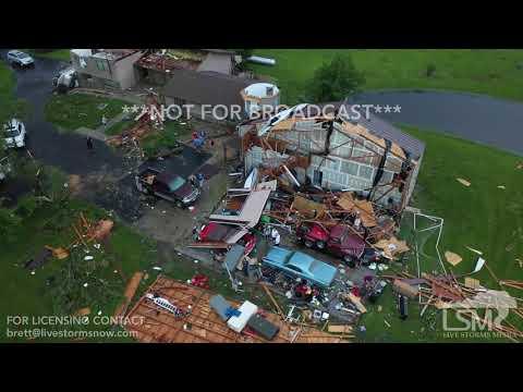 Gary Sadlemyer and KFAB's Morning News - Close-up footage of the Lawrence, Kansas, tornado damage.