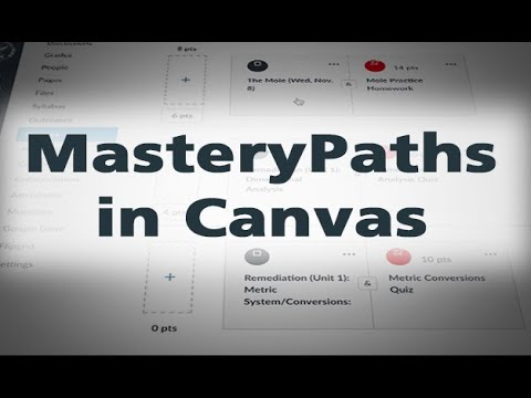 MasteryPaths in Canvas