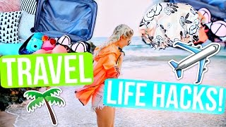 Travel Life Hacks! Save Money, Time & Space! | Aspyn Ovard