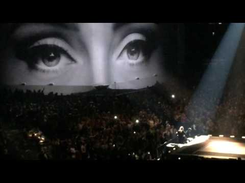 "Adele performing ""Hello"" at the ACC in Toronto"