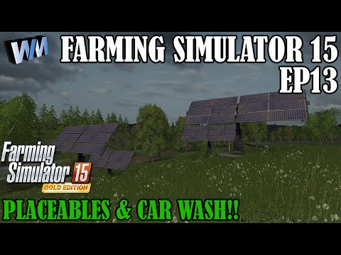 Farming Simulator 15 Gameplay EP13 - Solar Power & Follow Me Mod!
