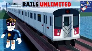 Johny Plays Roblox Rails Unlimited Train Game With MTA Subway Trains